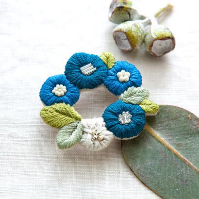 k.omono fioret  wreah brooch  ブローチ   -blue-
