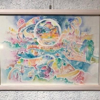 日本庭園の夜   立川陽介 2017年