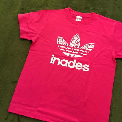 DJ-INAオフィシャルグッズ/inades  Tシャツ(ピンク)