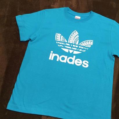 DJ-INAオフィシャルグッズ/inades  Tシャツ(ブルー)