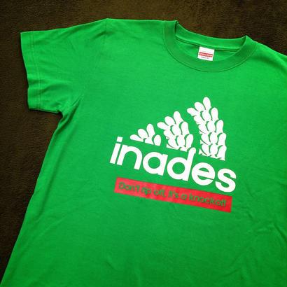 DJ-INAオフィシャルグッズ/inades Tシャツ2017(ブライトグリーン)