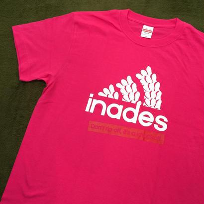 DJ-INAオフィシャルグッズ/inades Tシャツ2017(トロピカルピンク)
