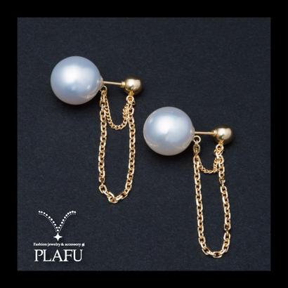 CORON series♥Pearl × Gold  -reversible earrings C
