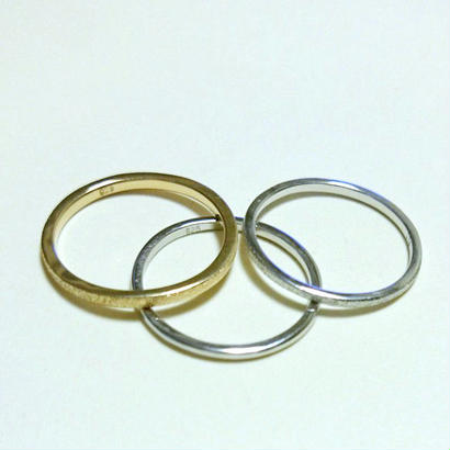 Stardust skinny  rings gold×silver 3連