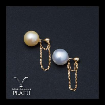 CORON series♥Pearl × Gold  -reversible earrings D