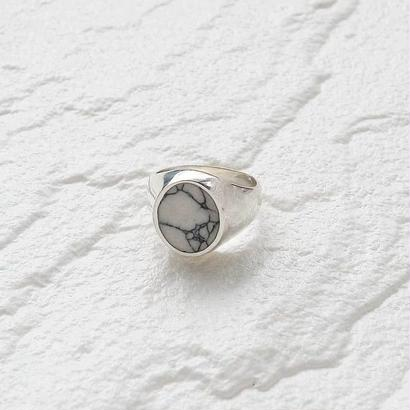 [silver925] Oval marble plate ring