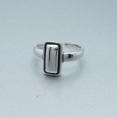 [silver925] Square mirror ring