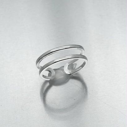 [silver925] Double pinky ring