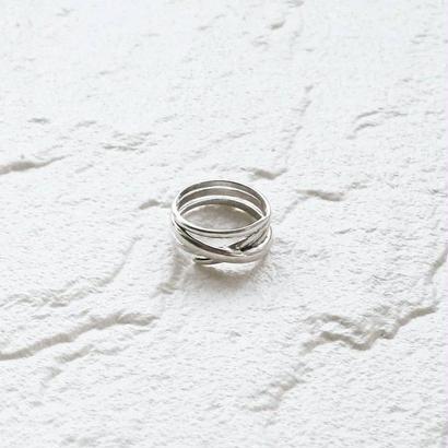[silver925] Cross line ring