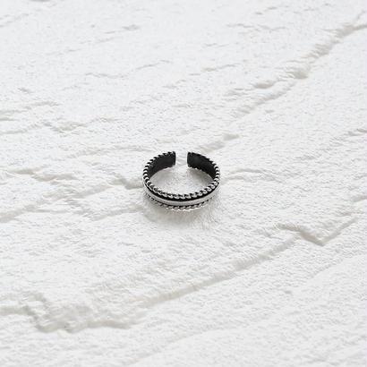 [silver925] Slim  rope ring