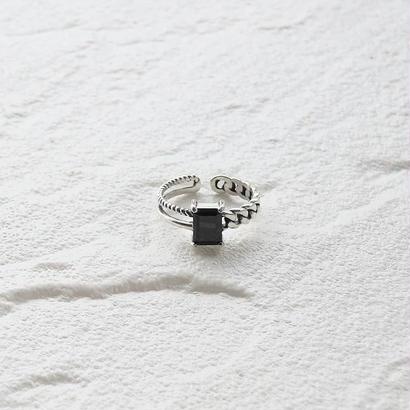 [silver925] Black stone ring