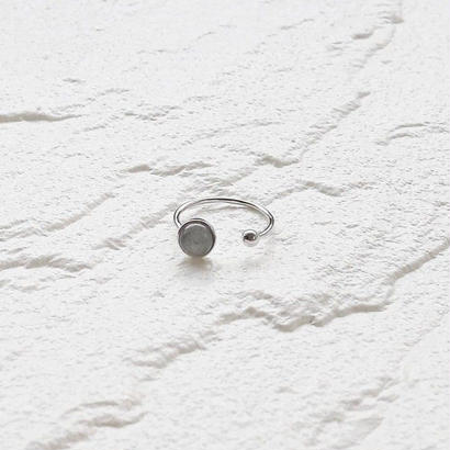 [silver925] Gray stone  ring