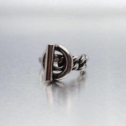 [silver925] Lock chain ring