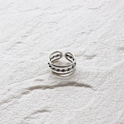 [silver925] Triple line ring