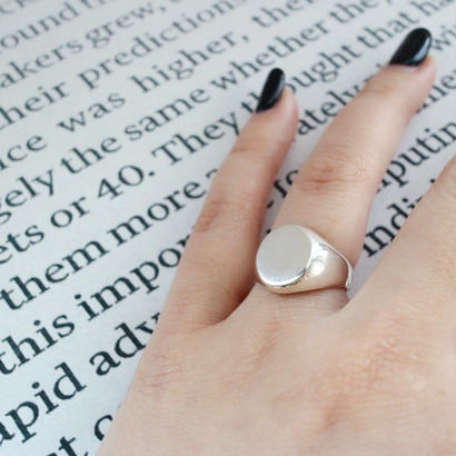 [silver925] Oval plate ring
