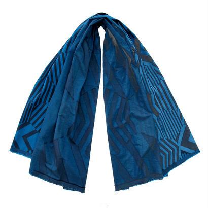 カットジャカードストール SC-0002 BLUE