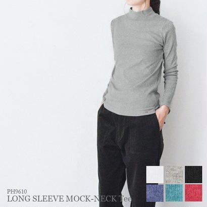 フライス・長袖モックネックTシャツ(PH9610)