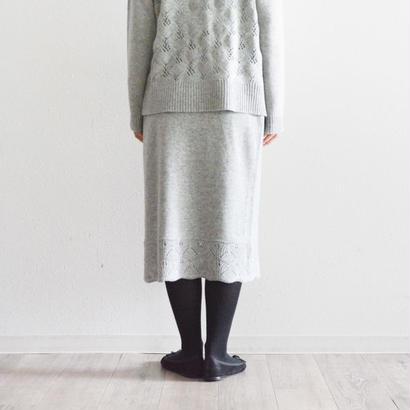 透かし編み・ウールニットスカート(PH9512)