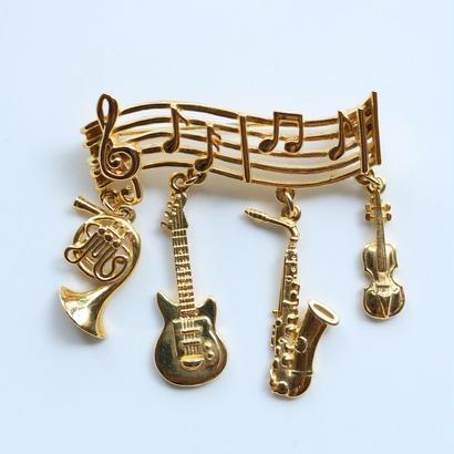【お取り寄せ品】JJ / Jonette Jewelry company  音楽好きさん・ミュージシャンのためのヴィンテージブローチ