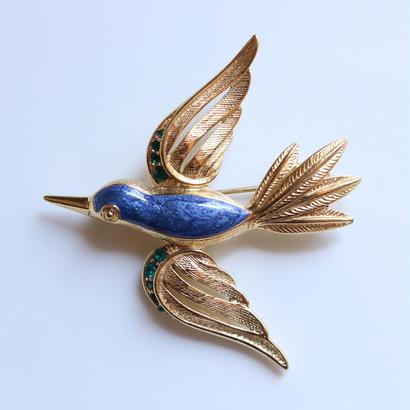【再入荷予定あり】TRIFARI トリファリ 1970-80s ブルーバード/青い鳥のヴィンテージブローチ