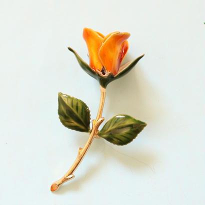 小さな薔薇/リトルローズ ヴィンテージブローチ