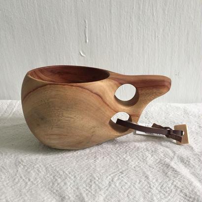 おと木工 ククサ風木製マグカップ 大