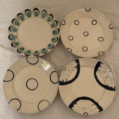 宮城陶器 7寸リム皿