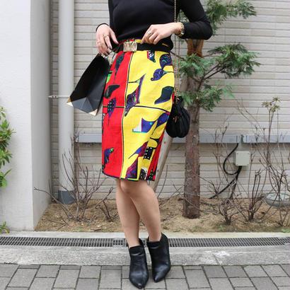 VERSACE カラフルヒールデザインスカート