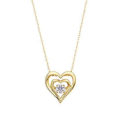 QIREINI  K10YGダイヤモンドネックレス (ダンシングストーン)