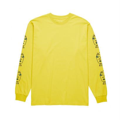 POLAR SKATE CO. HEADS LONGSLEEVE Shock Yellow