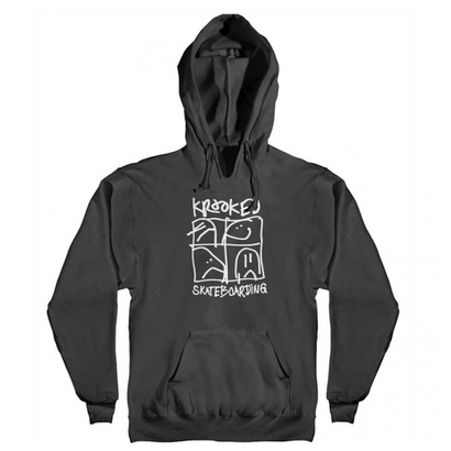 KROOKED KD ULTRA 2 PULLOVER HOODY BLACK