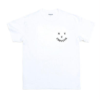 CHRYSTIE NYC CHRYSTIE.FACE LOGO T-SHIRTS / WHITE