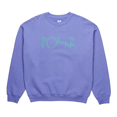 POLAR SKATE CO. AMERICAN FLEECE CREWNECK  Violet / Green