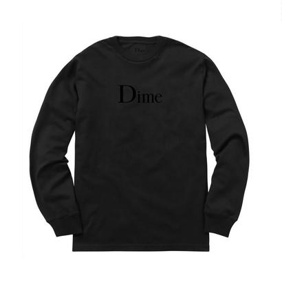 DIME CLASSIC LONG SLEEVE T-SHIRT BLACK