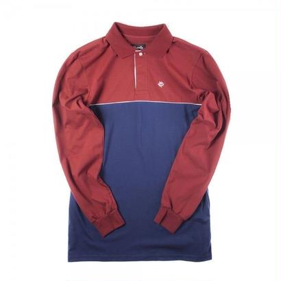 MAGENTA SKATEBOARDS MIX LS POLO Tricolor