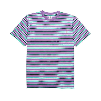 POLAR SKATE CO. STRIPED POCKET TEE Violet / Mint