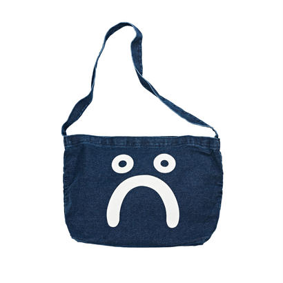 POLAR SKATE CO. HAPPY SAD DENIM TOTE BAG DARK BLUE