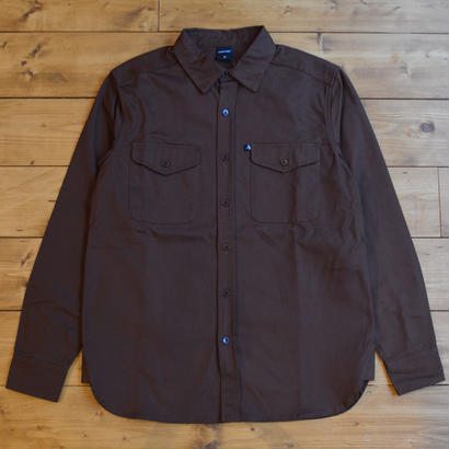 """PASS~PORT """"WORKERS"""" HEAVY DRILL OVER SHIRT - CHOC"""