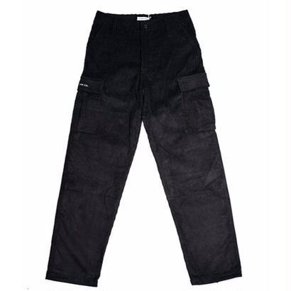POP TRADING CO. CORDUROY CARGO PANTS BLACK
