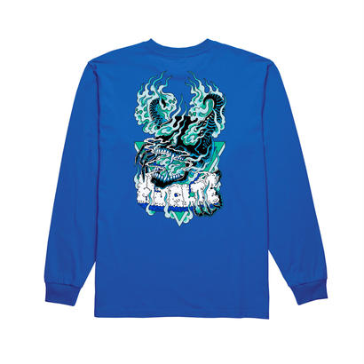 POLAR SKATE CO. BEAST MODE LONGSLEEVE BLUE