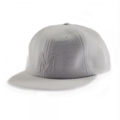 MAGENTA M 6 PANEL WOOL CAP WHITE