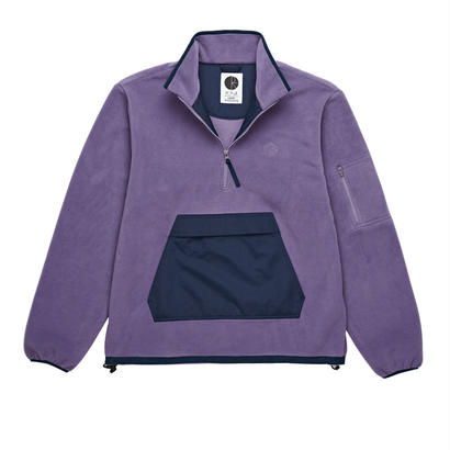 POLAR SKATE CO. GONZALEZ FLEECE JACKET LILAC/NAVY