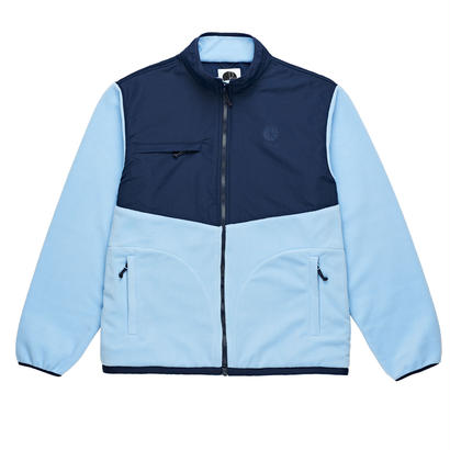 POLAR SKATE CO. HALBERG FLEECE JACKET NAVY / POWDER BLUE