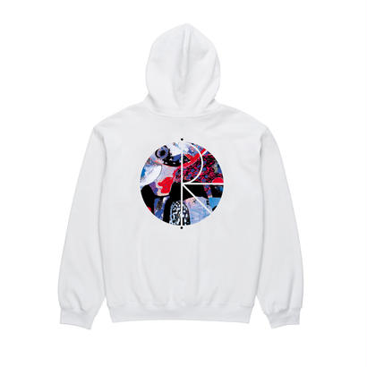 POLAR SKATE CO. ORCHID FILL LOGO HOODIE White