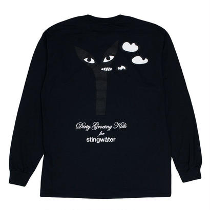 "Stingwater ""LIL STEVIE GROES"" BLACK LONGSLEEVED TEE"