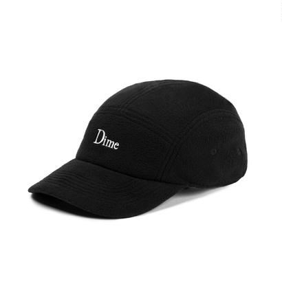DIME FLEECE 5 PANEL CAP BLACK