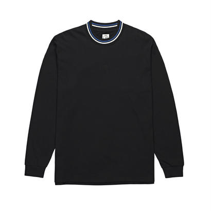 POLAR SKATE CO. STRIPED RIB LONGSLEEVE BLACK