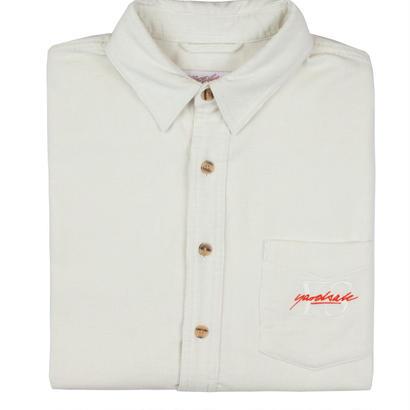 YARDSALE White YS corduroy shirt