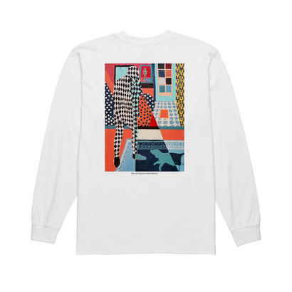POLAR SKATE CO. MAN WITH DOG LONGSLEEVE WHITE