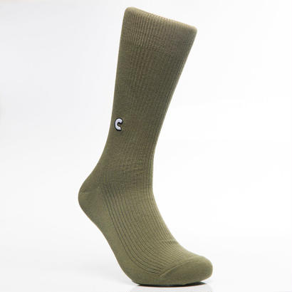 CHRYSTIE NYC CHRYSTIE CASUAL SOCKS / MILITARY GREEN